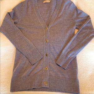 Tory Burch merino wool cardigan in lavender size M